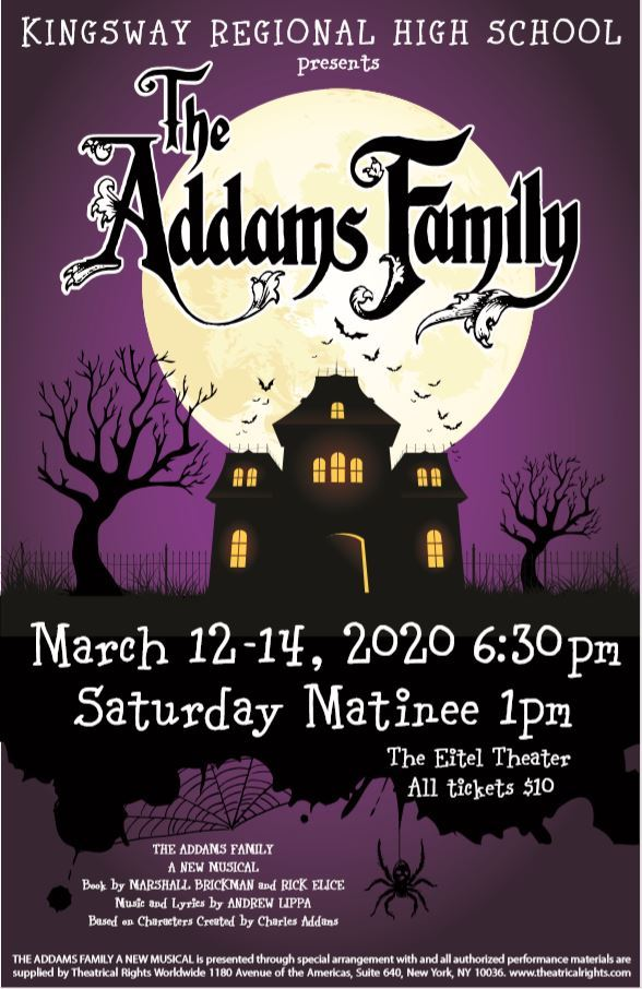 KRHS presents The Addams Family Musical March 12-14, 2020